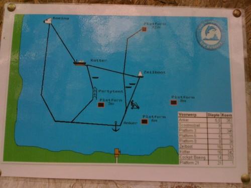 onderwaterkaart van de Beldert