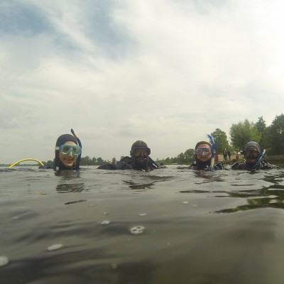 4 duikers in Vinkeveen