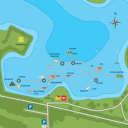 Bussloo onderwater-kaart